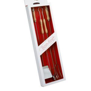Luxe BBQ cadeau bestek set van bon fire