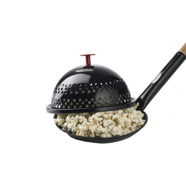 Popcorn pan met deksel