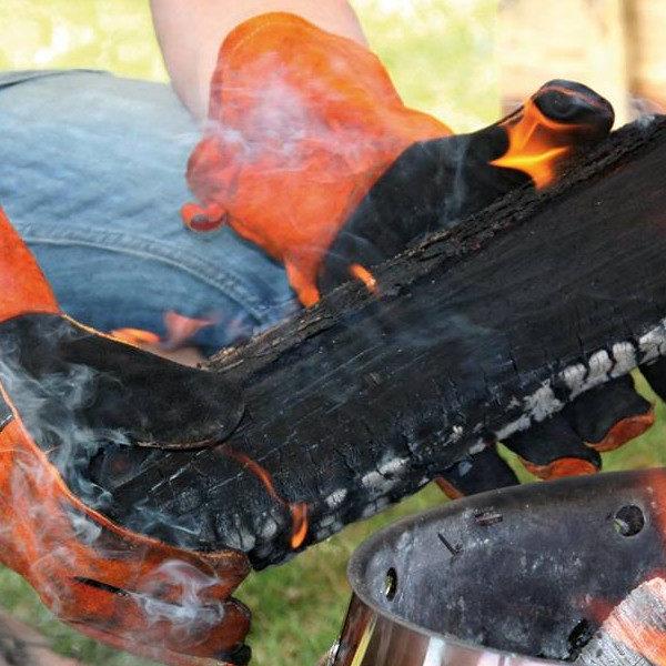 Leren bbq handschoenen van Petromax