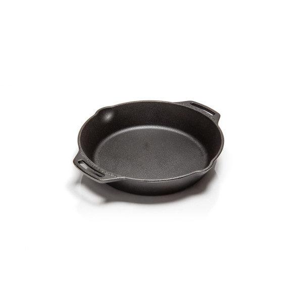 Gietijzeren koekenpan 25 cm met 2 handvatten