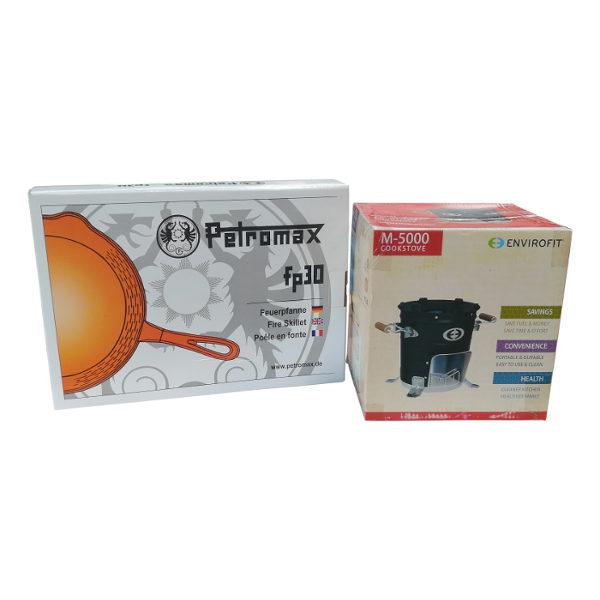 Envirofit M5000 met Petromax gietijzeren koekenpan