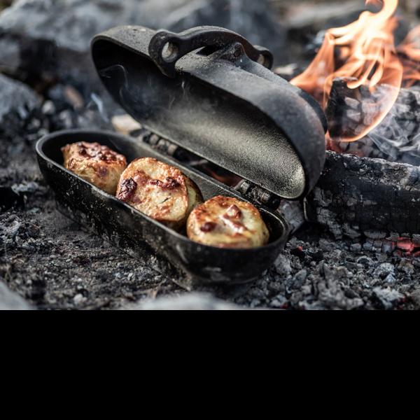 Petromax gietijzeren aardappelcooker